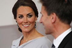 Kate, Duchess of Cambridge talks to Culture Secretary Jeremy Hunt at the Royal Academy of Arts in London