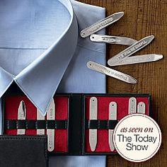 Hidden message collar stays, send him off with love notes tucked away close to his heart.