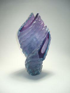 Violet Blue Helix Glass