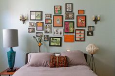 Mini Gallery Wall above the bed