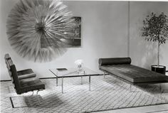 #Mies Barcelona couch and table and Tugendhat chairs