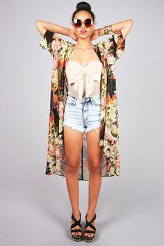 Floral Robe Cardigan