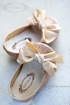 Little blush pink satin baby girl shoes