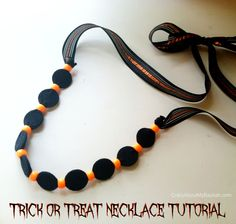 Halloween Necklace Tutorial #DIY #Halloween