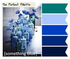 so many lovely shades of blue...