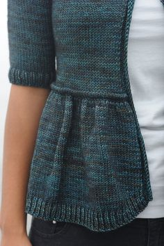Water's Edge top-down cardigan by Hannah Fettig. This is a great #knit sweater for all seasons.