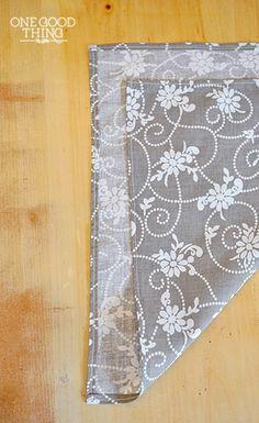 Sew a tiny (rolled) hem - use for cloth napkins, etc