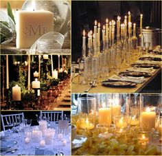 clear bottle grouping with neutral candles