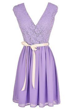 #lavender #lace #dress #gorgeous #pretty #pastel