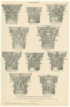 Corinthian and composite capitals