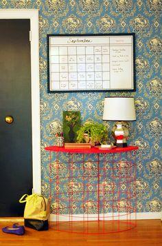 Little Green Notebook: DIY Whiteboard Calendar