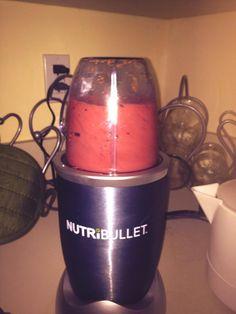 Today's smoothie: #strawberry #banana #blueberry #raspberry #flax seed. #sotasty #mynewobsession #nutribullet #nutriblast