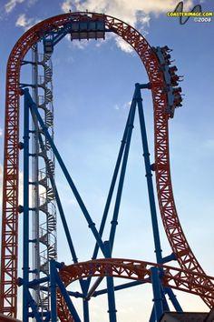 Fahrenheit Roller Coaster at Hershey Park, Pennsylvania...