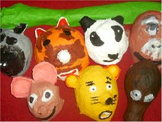 Paper Mache Animal Masks Lesson Plan: Sculpture Activities and Lessons for Children and Kids: KinderArt ®