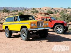 1978 Cherokee Chief & the Lower40 concept Jeep at The Easter Jeep Safari