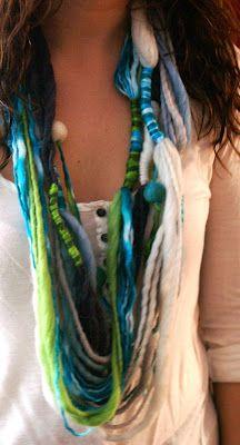 Telaresytapices......arte textil....: Collares bufandas