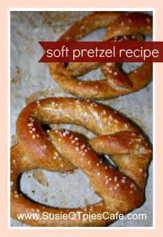 susieqtpi cafe, kid food, pretzel recipes, soft pretzel recipe, bread recip, pretzels, 13 recip