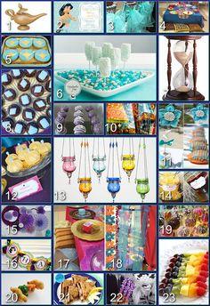 Disney Donna Kay: Disney Party Boards - Princess Jasmine Birthday Party