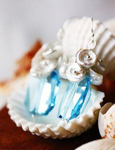 Summer Love Swarovski Aquamarine Crystal Sterling by MakiYDesign, $45.00