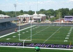 Mount Union Stadium. My favorite Division 3 team is The Mount Union Purple Raiders!!