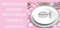 Dollar Store Plate Craft - Design Dazzle. Special paper for designing plates