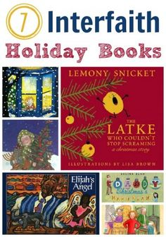 Holiday Books about celebrating Christmas and Hannukah.