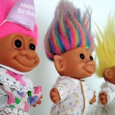 Well, I remember the comeback of trolls in the 1990's... I have one with rainbow hair like this!