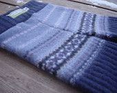 Small Felted Wool & Angora Blend Fair Isle Recycled Ribbed Longies by Lagamorphlounge on Etsy. $19.00