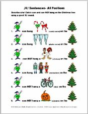 Christmas /K/ Sentences Articulation Exercise 2 Pages - pinned by @PediaStaff – Please Visit  ht.ly/63sNt for all our pediatric therapy pins