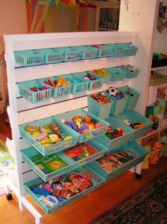 organize with colorful bins