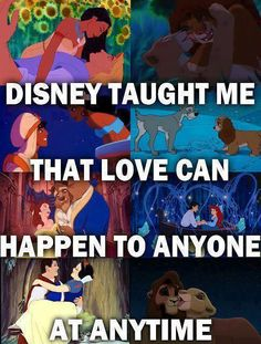 Love can happen to anyone at anytime #Disney #fact