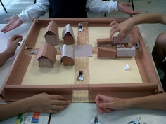 This was a Roman garrison town Math project :) We used measurement skills, symmetry and 3-D nets to create it. Great fun.