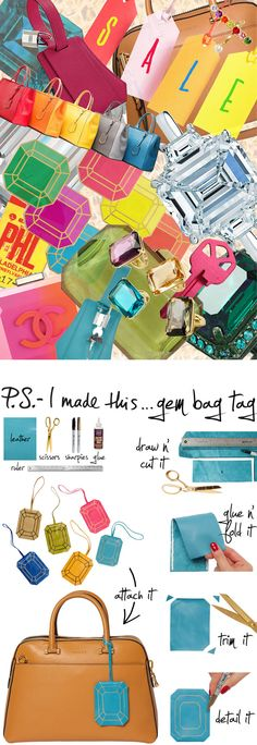 P.S.-I made this...Gem Bag Tag #PSIMADETHIS #DIY