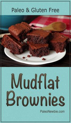 """Moist, dense and richly-textured with a deep, decadent fudgy-chocolate taste. What's the secret ingredient in these """"healthier"""" brownies that makes them so good? It's puréed dates!  #paleo #glutenfree"""
