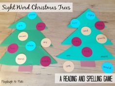 Fun way to teach kids how to read and spell sight words.