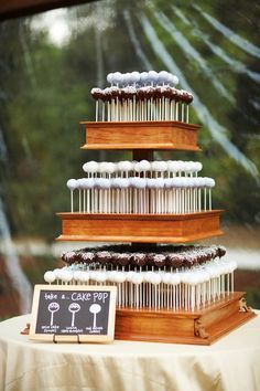 Grooms Cake - Wedding cake pops!