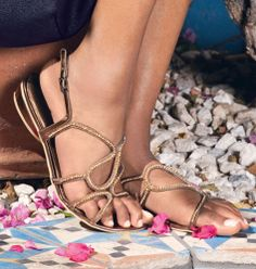 Bronze Goddess Sandals ($28) | mark. I must have these!