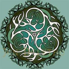 Antlers and Moons - Celtic Art