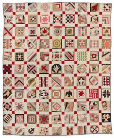 Bingham-Miller Family Collection. Sampler Quilt circa 1890, Probably Pennsylvania. L2010.42.23