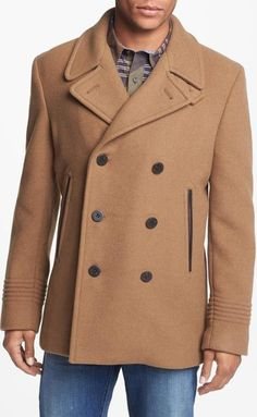 For the Gent's - Double Breasted Wool Blend Peacoat