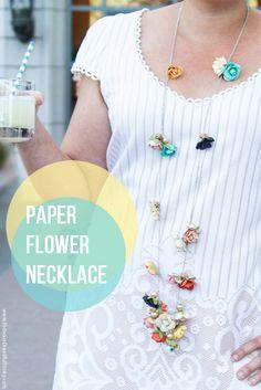 Paper Flower Necklace Tutorial! - Hideous! Dreadful! Stinky!