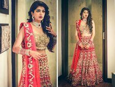 Bride- Menaka Pohani Lehenga by- Jaykumar Makhija (Bandra, Mumbai)
