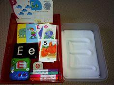 Letter E workboxes - Rockabye Butterfly Blog