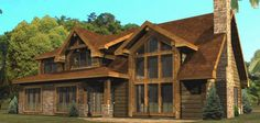 Haven Cove - Log Homes, Cabins and Log Home Floor Plans - Very cool plan