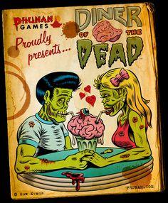 """""""Diner of the Dead""""  Huw Evans"""