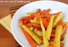 Roasted carrots and parsnips with honey and balsamic vinegar-For the Love of Cooking