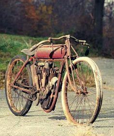 1915 Indian v twin board track racing bike