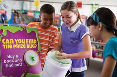 For kids, fun and gross often go hand in hand! Fill a bucket with slime and toss in some plastic bugs. Label a few with a special marking. Kids who pull the winning bugs get a prize from the fair- but everyone gets a memorable book fair experience!    Check out your Book Fair Chairperson Toolkit for more tips and tricks.