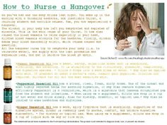 Young Living Essential Oils: Hangover