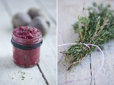 Raw Beets + Avocado, Cashews, Mustard, Capers, Lemon, Thyme = Beetroosh, an original beet spread by Green Kitchen Stories